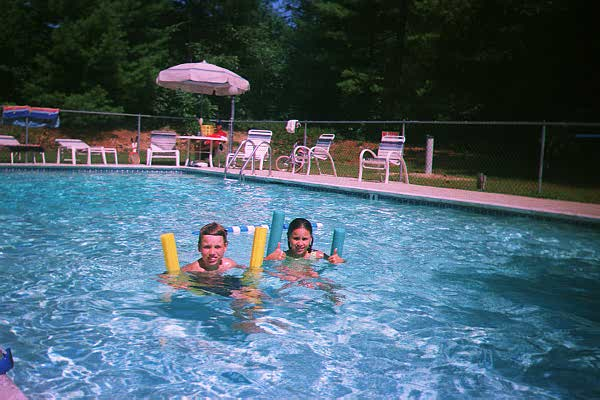 Kids in Melody Pines Pool Summer '98